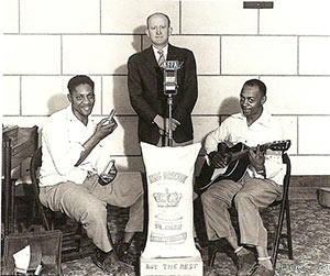 Sonny Boy Williamson II and R. Lockwood at KFFA King Biscuit Time, Helena, Ar, 1940
