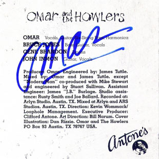 Omar & The Howlers, Monkey Land CD (with Omar signature)
