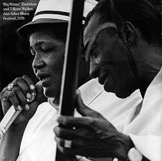 Big Mama Thornton and T-Bone Walker at Ann Arbor Blues Festival 1970