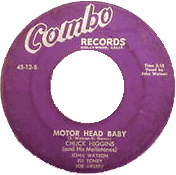 Chuck Higgins, Motor Head Baby, 45 rpm record label