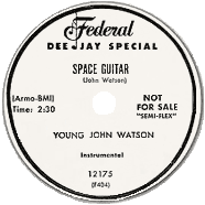 Space Guitar, 78 rpm record label