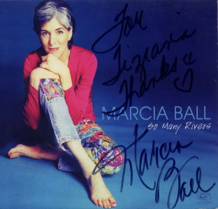 Marcia Ball, So Many Rivers CD cover (with Marcia signature)