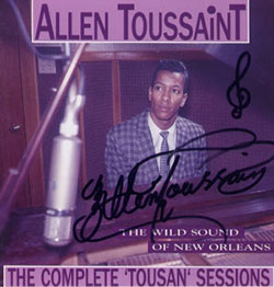 Allen Toussaint, The Complete Tousan Sessions CD cover (with Toussaint signature)