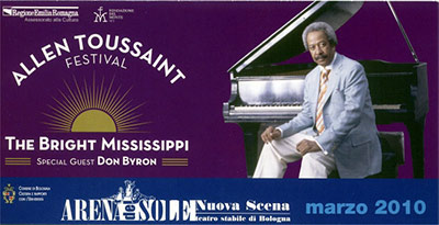 Allen Toussaint live in Bologna ticket