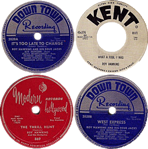 Down Town and Modern Records 78 rpm singles