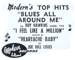 Modern Records' top-hits ad