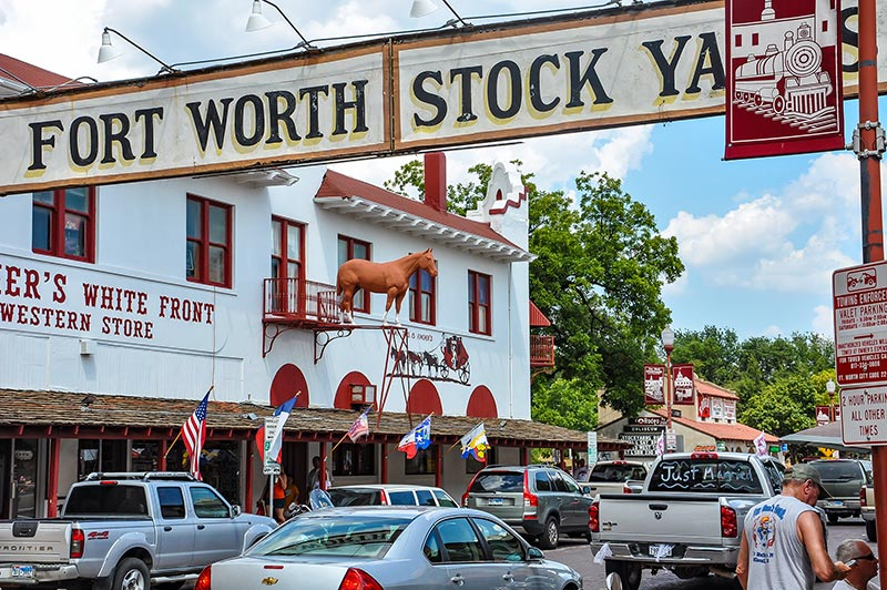 Fort Worth Stockyards, historic downtown