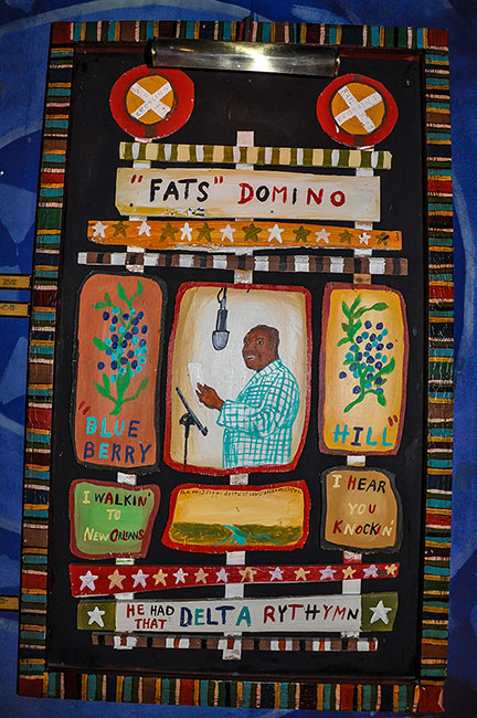 Fats Domino painting at the House of Blues, Dallas, Tx