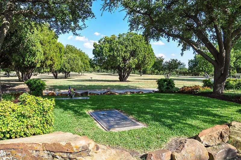Stevie Ray Vaughan gravesite, Laurel Land Memorial Park, Dallas