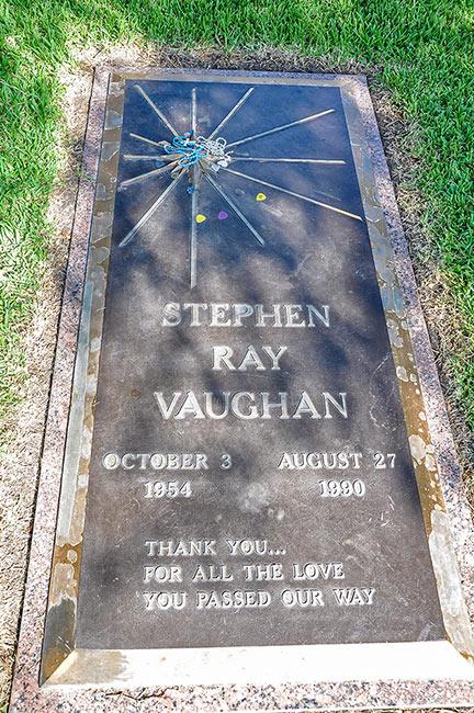 Stevie Ray Vaughan grave, Laurel Land Memorial Park, Dallas