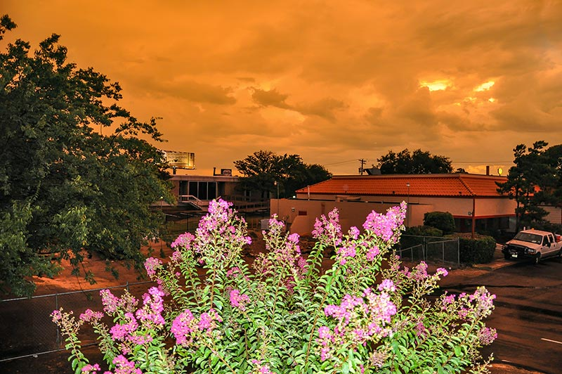 Sunset color in Austin, Tx