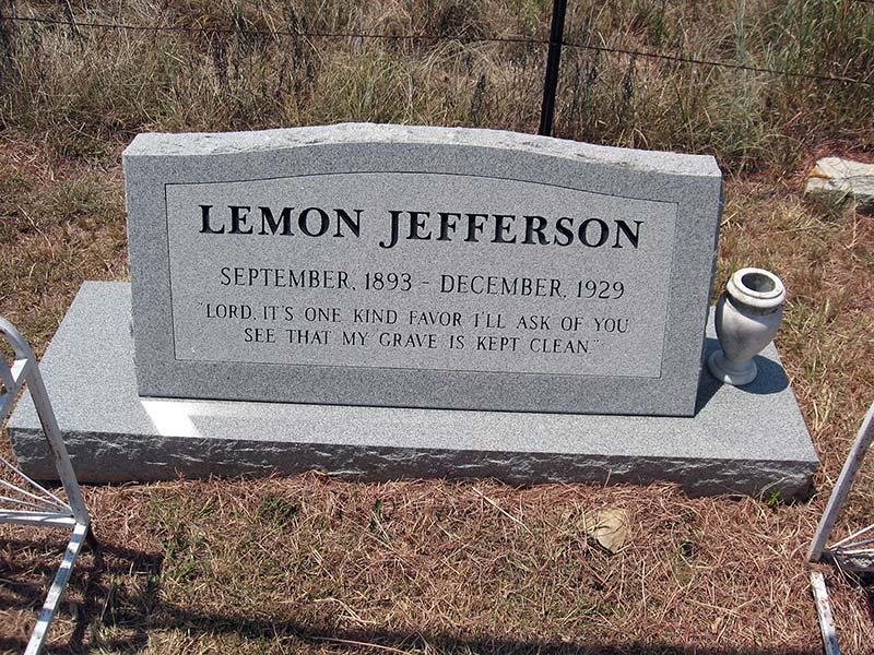 Blind Lemon Jefferson grave, Wortham, Texas