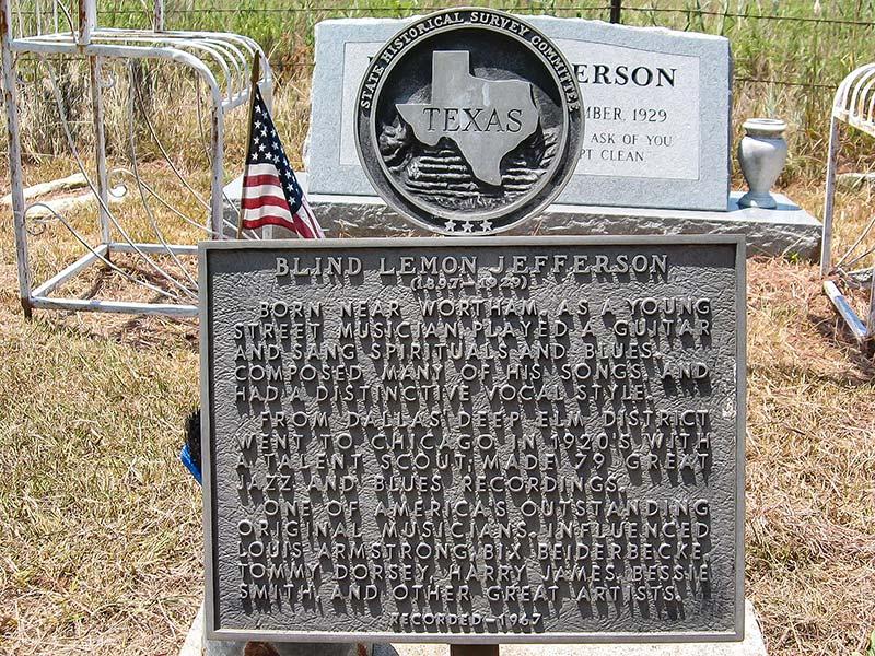 Blind Lemon Jefferson gravesite, Wortham, Texas