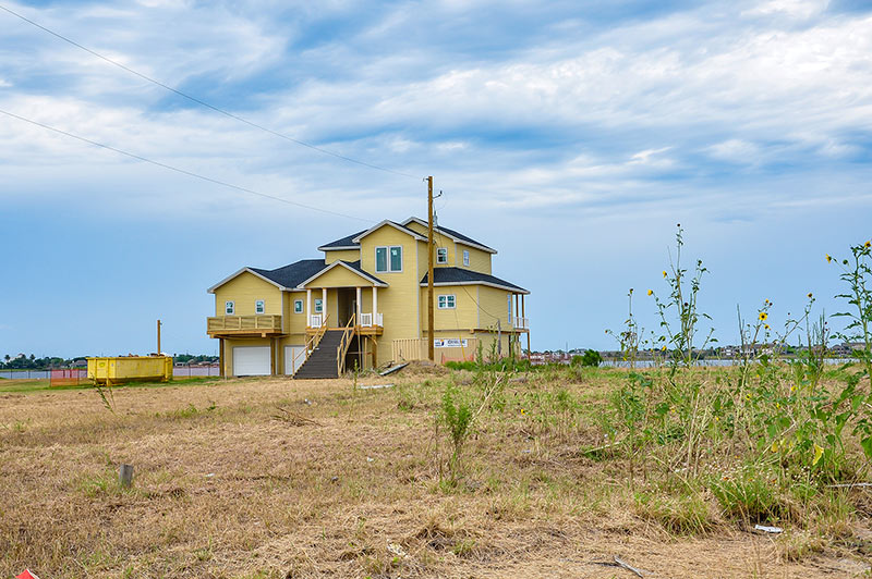 House on the bay, Galveston, Texas