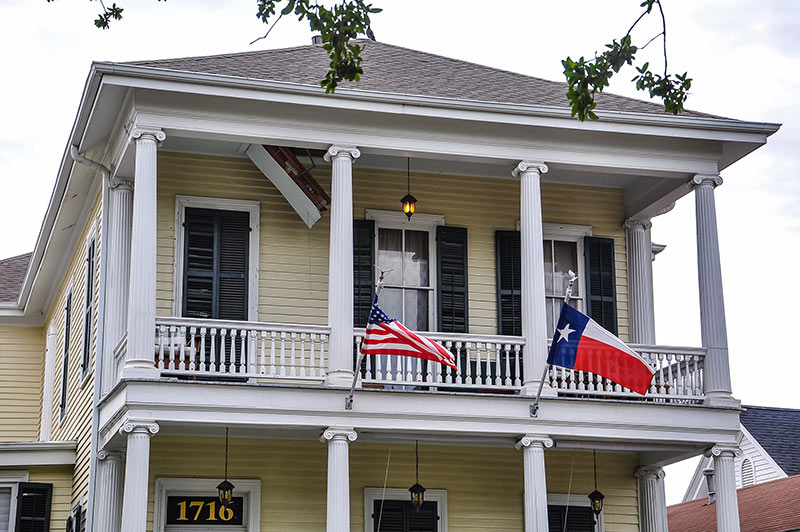 Old Glory and Lone Star, Galveston, Texas