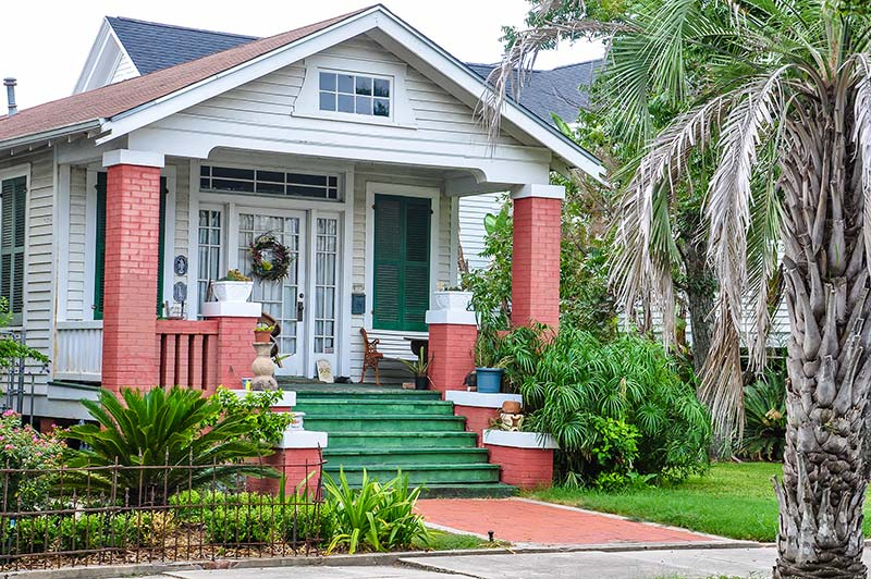 Little house in Galveston, Texas