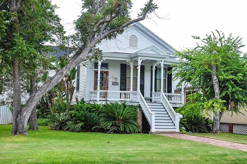 Raised house in Galveston, Texas