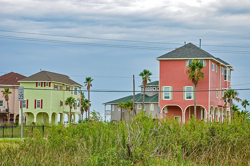Raised houses, Galveston, Texas