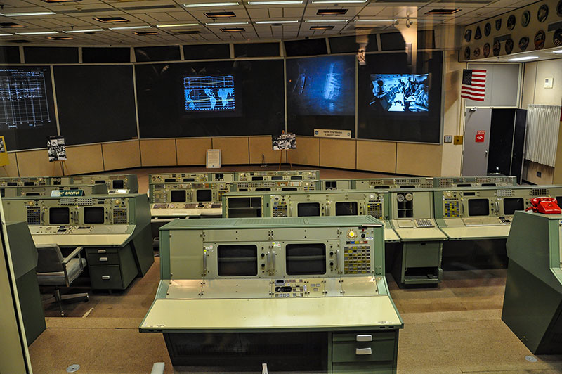 Apollo mission control room, Johnson Space Center, Houston, Texas