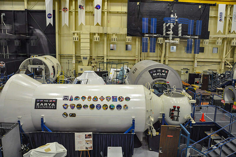 Zarya cargo module, Building 9 at the Johnson Space Center, Houston, Texas