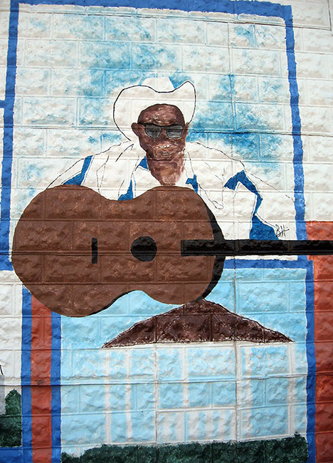 Lightnin' Hopkins mural, Centerville, Texas