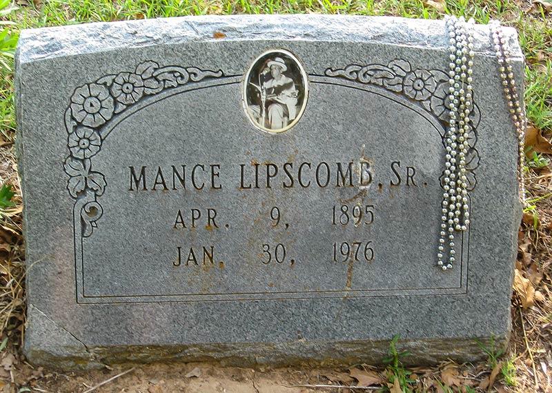 Mance Lipscomb grave, Navasota, Texas