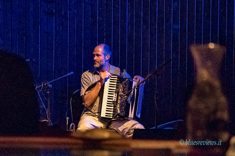 Guy Forsyth accordionist Oliver Steck at Saxon Pub, Austin, Tx