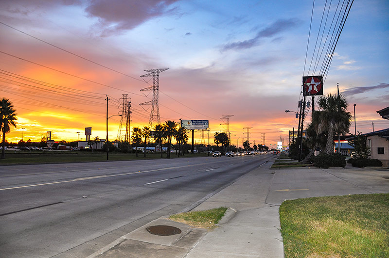 Sunset in Texas City, Texas