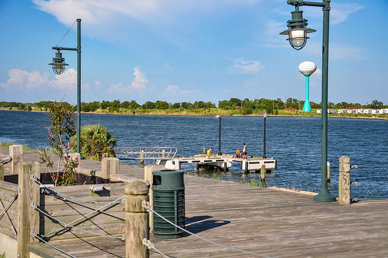Boardwalk in front of Pleasure Island, Port Arthur, Texas