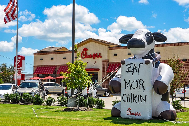 Eat mor chikin, somewhere in Texas