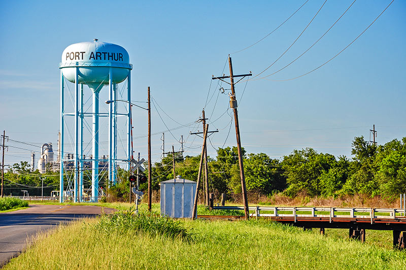 Water tower in Port Arthur, Texas
