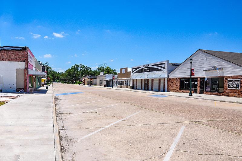 Downtown Vinton, Louisiana