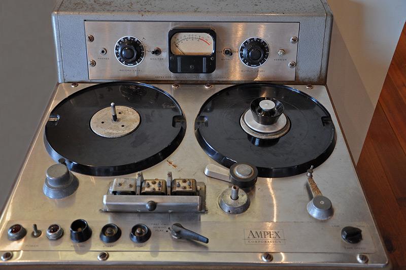 Ampex tape recorder, J.D. Miller Studio