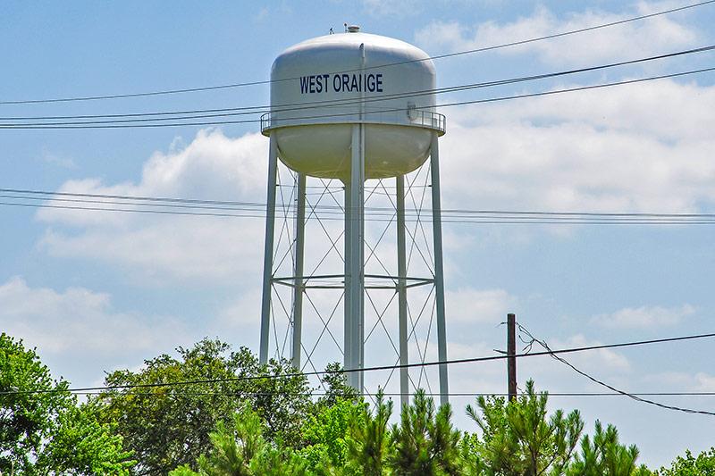 Water tower, West Orange, Texas