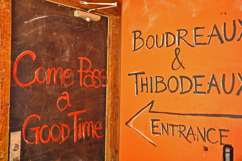 Boudreaux & Thibodeaux entrance