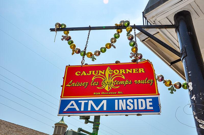 Cajun corner shop, New Orleans