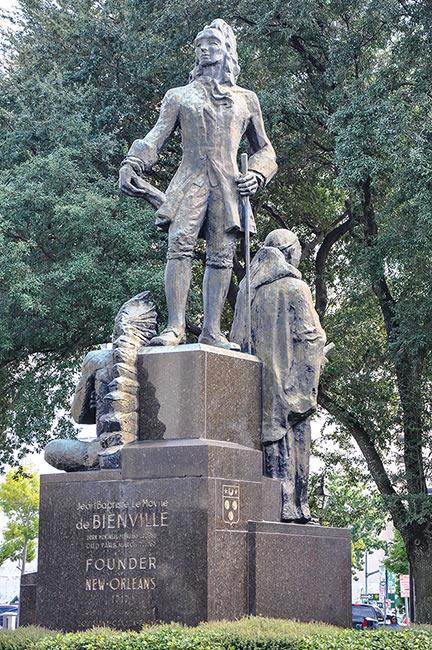 Statue of Jean Baptiste LeMoyne de Bienville, founder of New Orleans