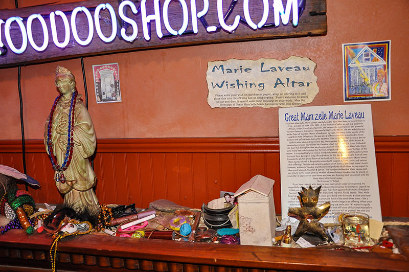 Marie Laveau wishing altar at Voodoo Authentica shop, New Orleans