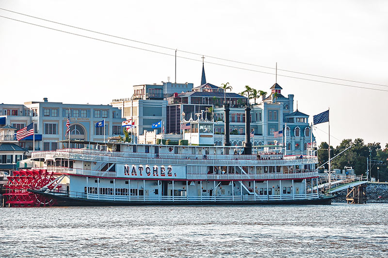 Natchez steamboat, New Orleans