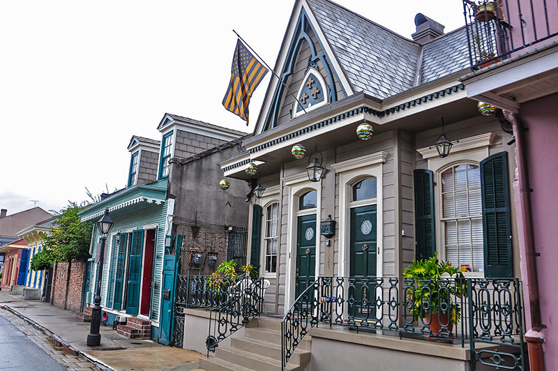 Historic houses in Bourbon Street, New Orleans