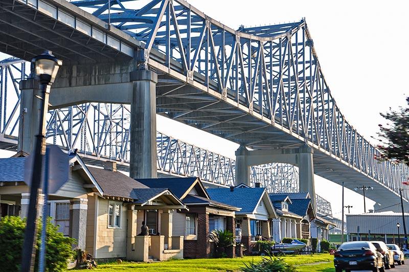 Houses under the bridges, Algiers, N.O., Louisiana