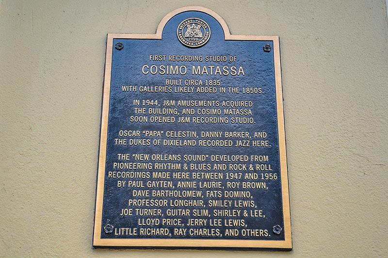 Plate of first Cosimo Matassa's recording studio, North Rampart, N.O., Louisiana