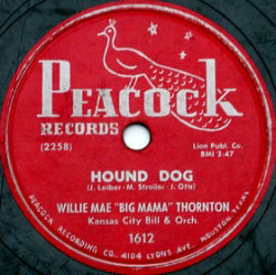 Hound Dog, 78 rpm label
