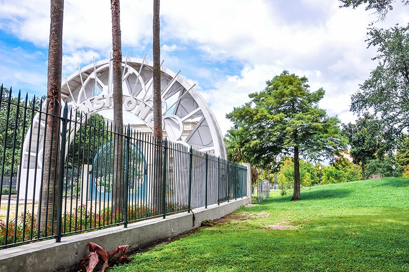 Louis Armstrong Park closed for repairs, N.O., Louisiana