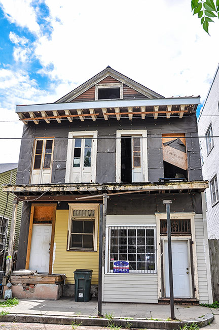 Professor Longhair's last house, New Orleans