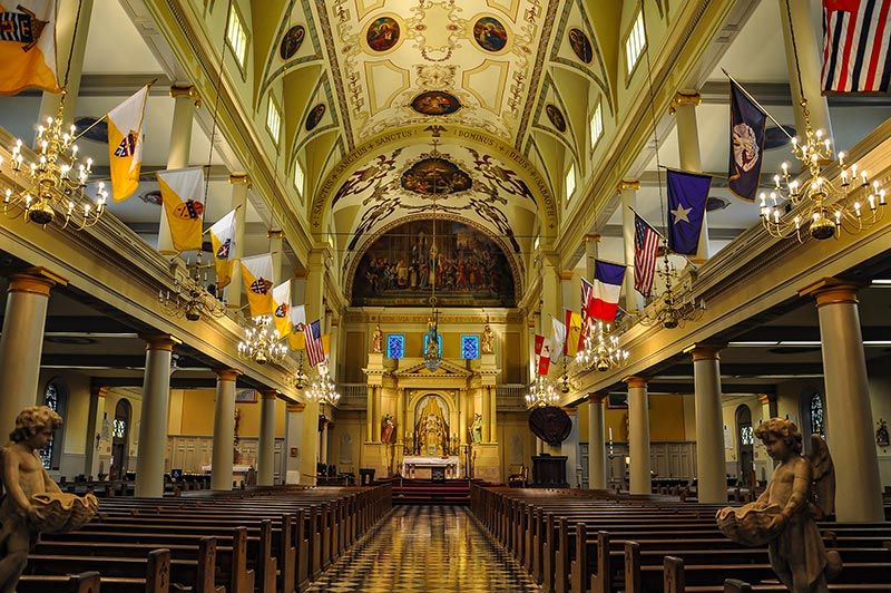 St Louis Cathedral interior, New Orleans