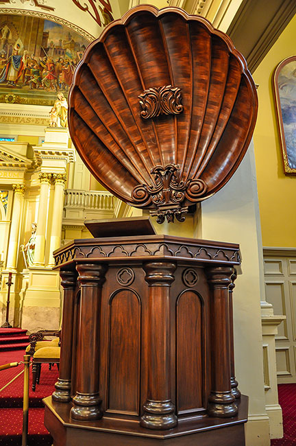 St Louis Cathedral pulpit, New Orleans