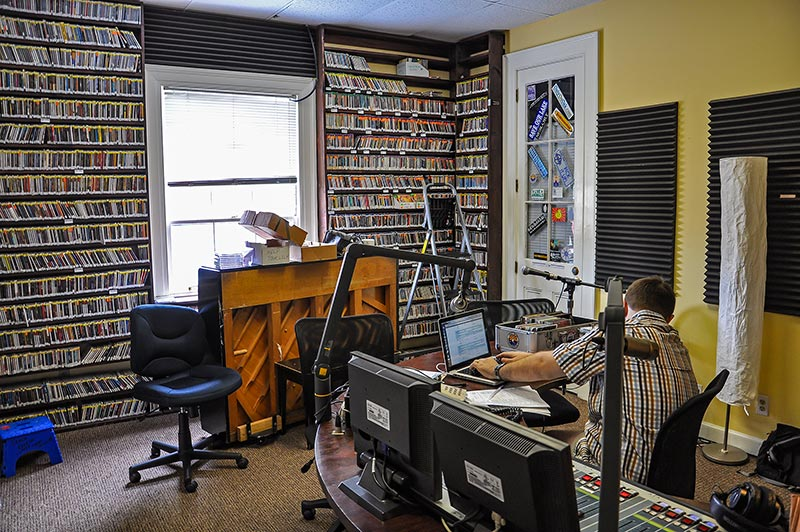 Main studio, WWOZ radio station, New Orleans