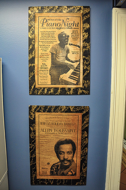 Posters, WWOZ radio station, New Orleans
