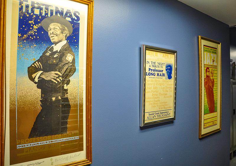 Posters, WWOZ radio station, New Orleans
